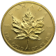 CANADIAN GOLD MAPLE LEAF 1 OZ SCRUFFY