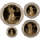 4-PC AMERICAN GOLD EAGLE SET PROOF (CAPSULE ONLY)