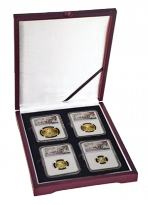 2015 First Day of Issue American Gold Eagle Set Perfect MS-69 NGC