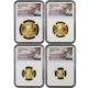 2015 First Day of Issue American Gold Eagle Set Perfect MS-70 NGC