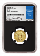 2016 Standing Quarter 24K Gold Coin SP-70 Grade by NGC with Exclusive Edmund C. Moy Signature Label
