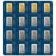 Pamp Multi-Metal Portfolio Sheet  2.5 Gram Ingots of Gold(4), Silver(4), Platinum(4) and Palladium(4)