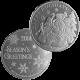 2014 Snowman Silver Round 1 troy oz .999 Pure Silver