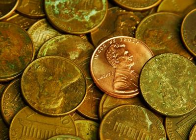 Green Pennies & Cleaning Old Coins