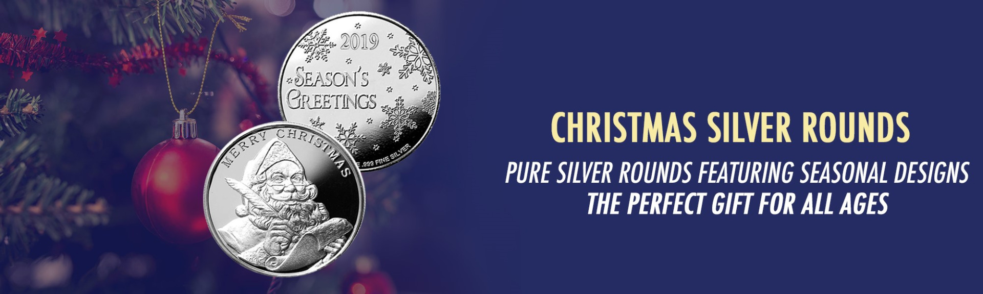 2019 Santa Christmas Silver Rounds