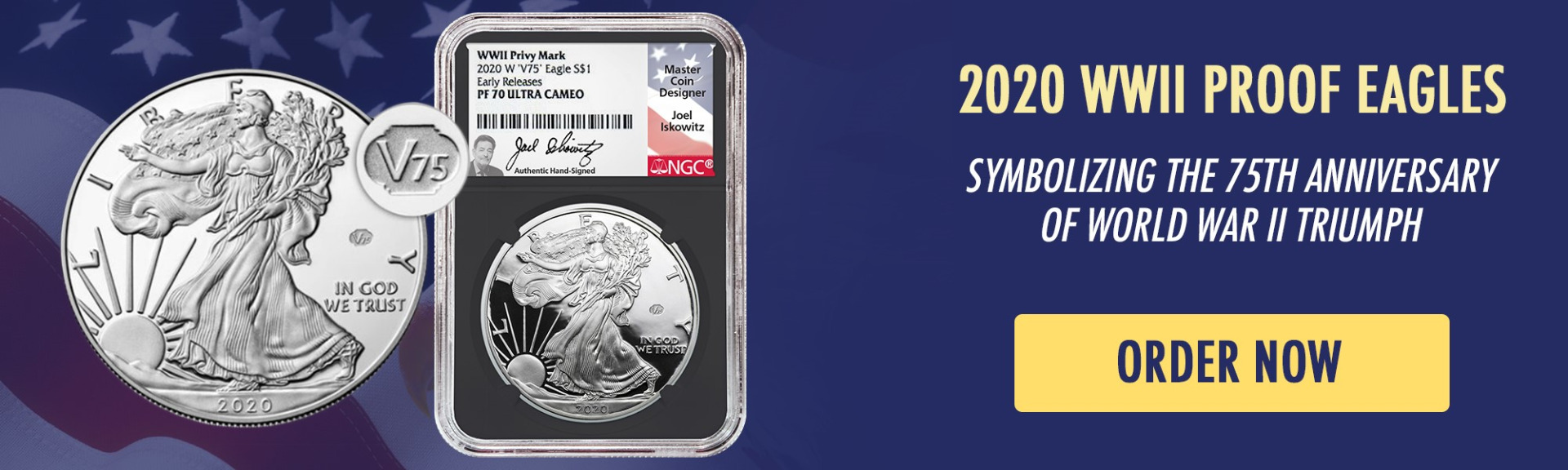 2020 WWII 75th Anniversary Proof Silver Eagles