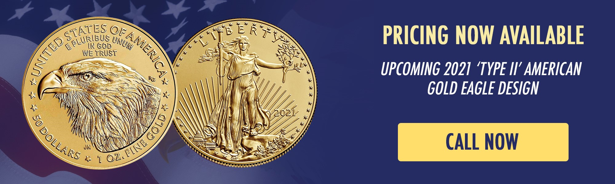 Order the New 2021 Gold Eagle Type 2 Now
